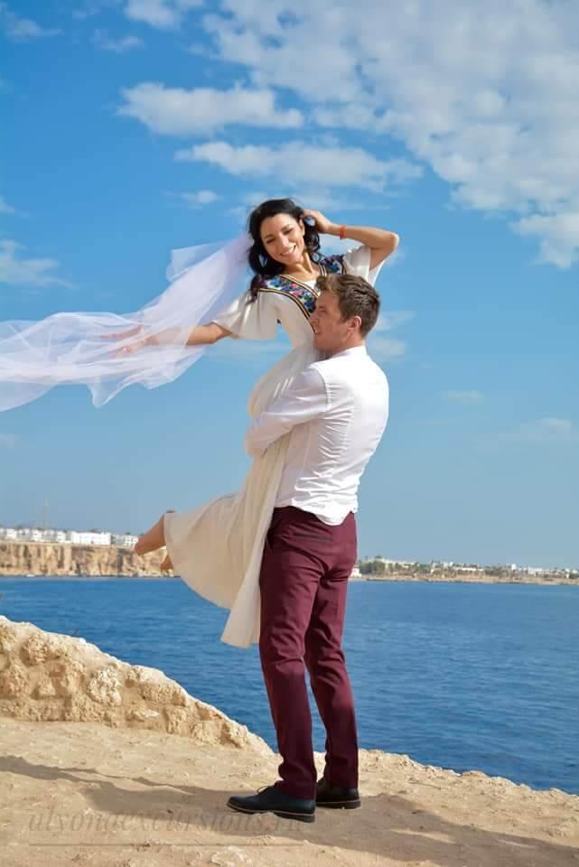 Свадебная фотосессия в Шарм-Эль-Шейхе на море