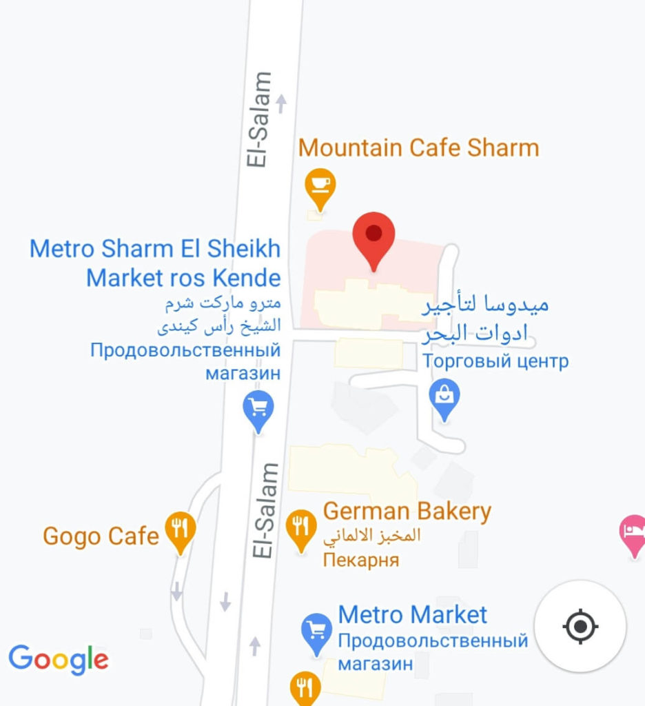 карта больницы south sinai hospital sharm el sheikh