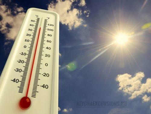 Температура воздуха в Египте